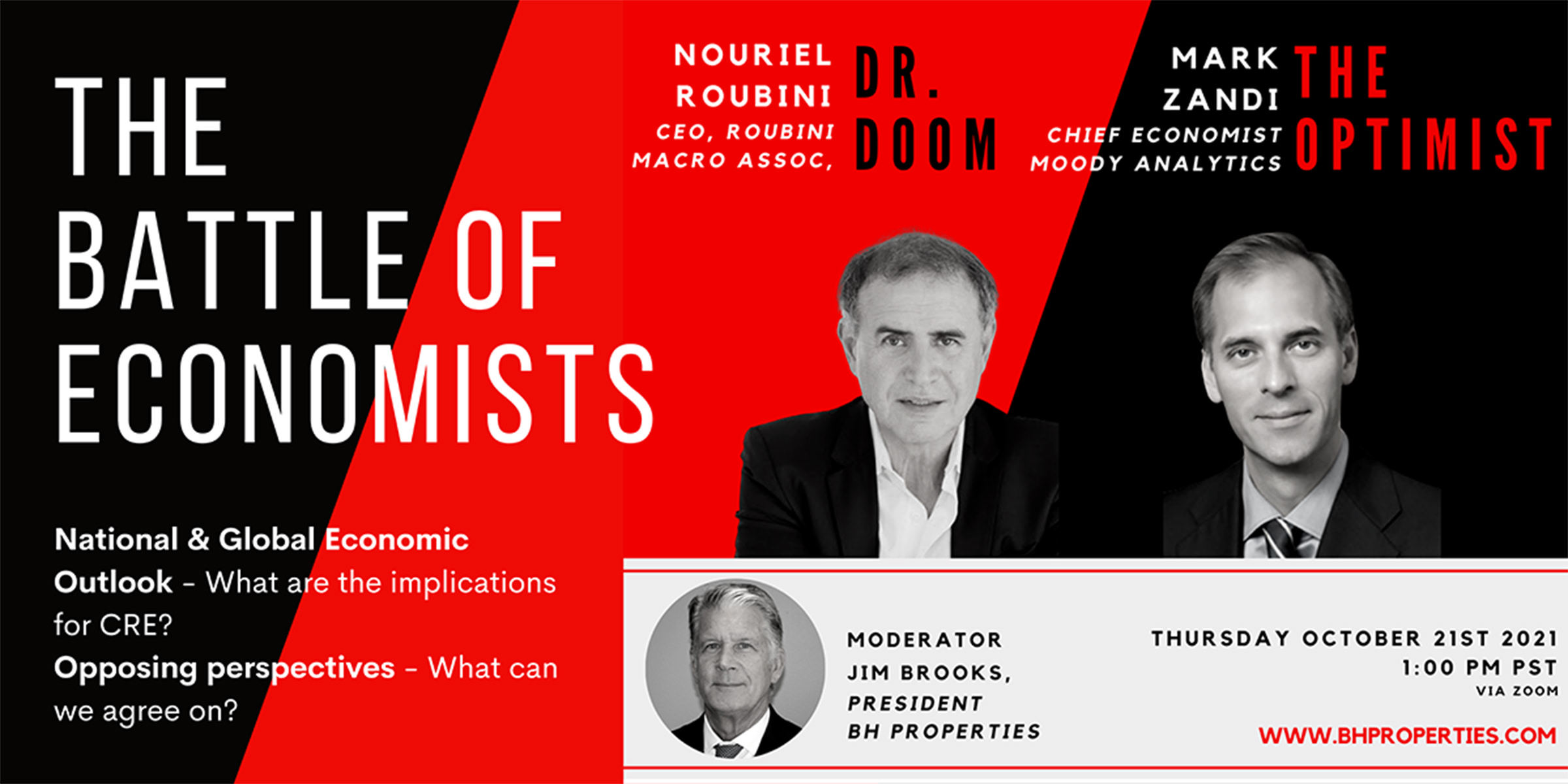 BH Properties Events - The Battle of Economists